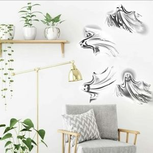 Halloween Ghost Wall Decor Stickers Grey White